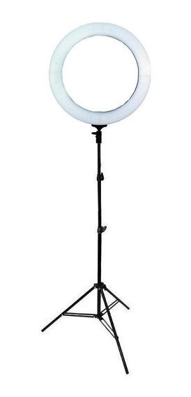 Iluminador Led Ring Light 18 80w 48cm Diâmetro E Tripé 2m