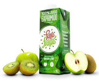 Jugo 100% Exprimido X 1 Ltr Pura Frutta Kiwi Y Manzana