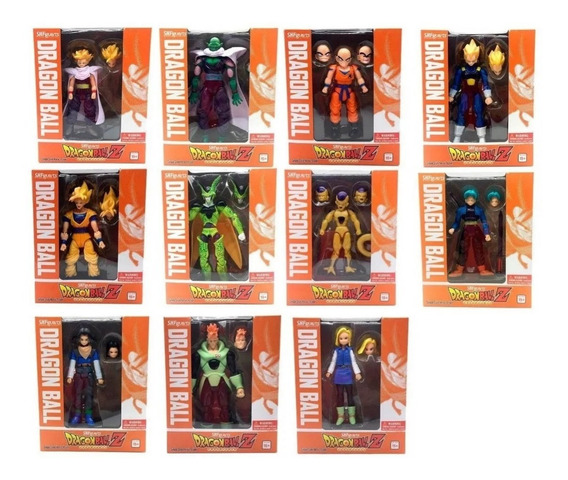 Boneco Dragon Ball Action Figure Goku Kuririn C/caixa S228
