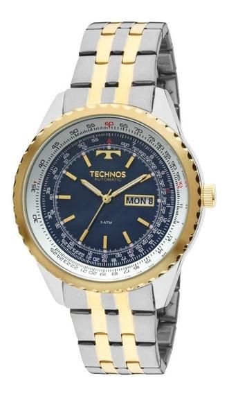 Relógio Technos Masculino Ref: 8205no/5a Automático Bicolor