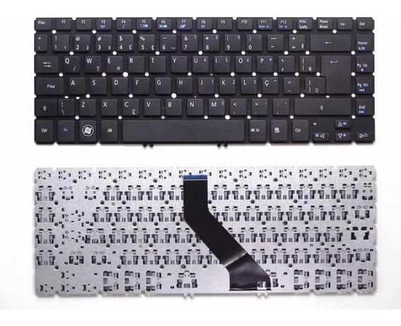Teclado Para Notebook Acer Aspire Ultrabook V5-431 Preto