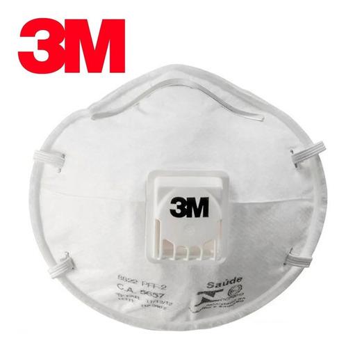 Mascaras Pff2 3m 8822 Com Válvula Branca Kit Com 10 Pç N95