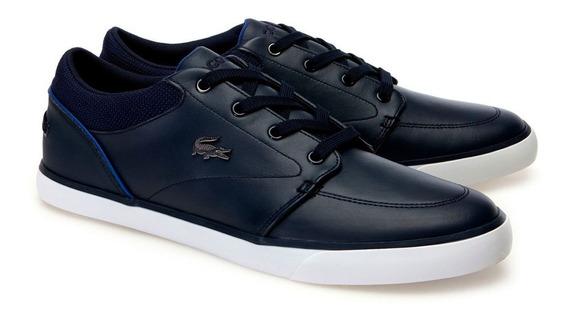 Teni Hombre Lacoste Bayliss Cuero 100% Original Zapato