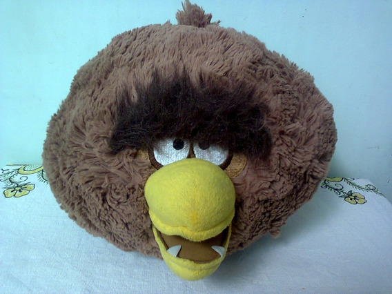 Pelúcia Angry Birds Chewbacca - Star Wars - Import. - 28 Cm