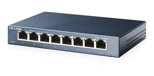 Switch 8 Bocas Gigabit Tp-link Tl-sg108 Acero Metalico