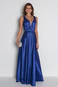 Vestido Madrinha Festa Formatura Longo Azul Royal