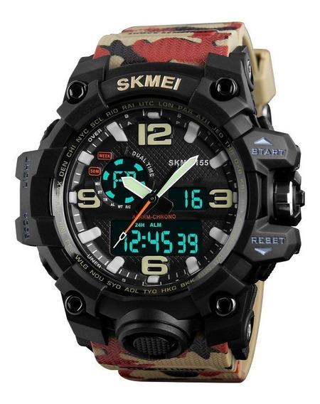 Relógio Masculino Skmei Anadigital 5atm Sport 1155 Original