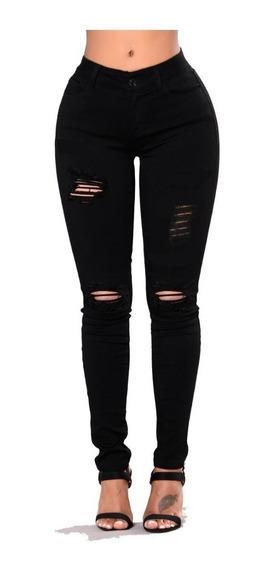 Calça Jeans Feminina Hot Pants Rasgada Super Skinny Premium Cintura Alta Promoção Do 36 Ao 46 Top Levanta Bumbum