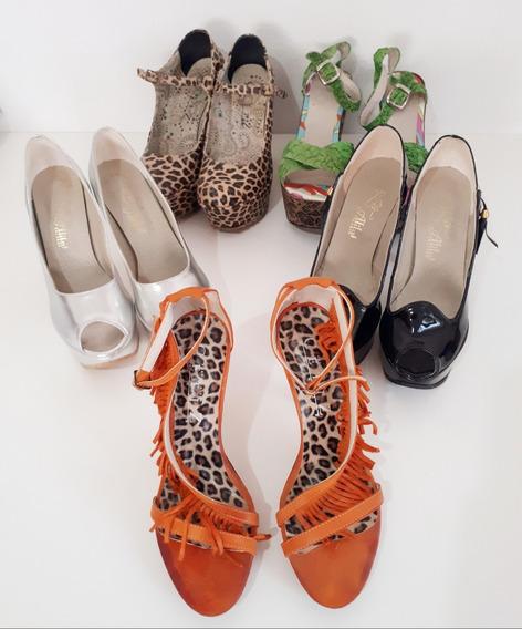 Zapato / Sandalia / Bota Lote 6 Pares 39-40 Cu Eco-cu
