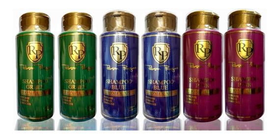 Robson Peluquero 2 Sh Green+2 Sh Blue + 2 Sh Pink -300ml