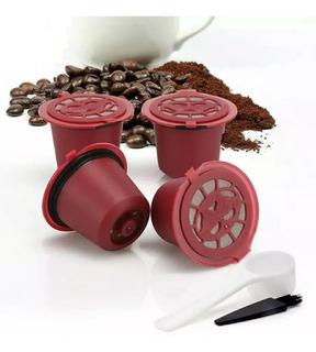 4 Cápsulas Reutilizável Nespresso Recarregável Bordo