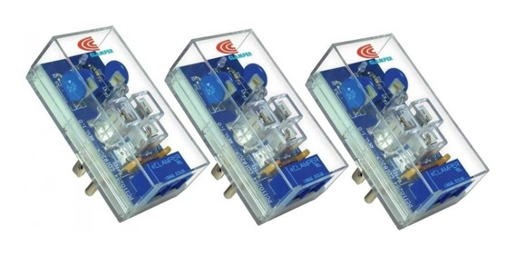 3 Supresores Picos Eléctricos Pararrayos Teléfono E-clamper