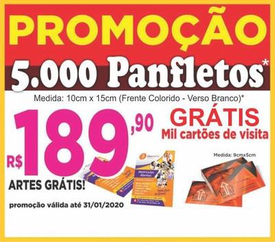 5.000 Panfletos Promocionais + Mil Cartões De Visitas Grátis