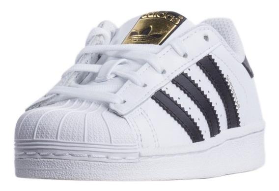 Tênis adidas Superstar Branco Com Preto Star Em Promoção