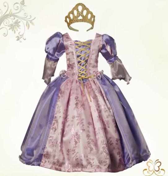 Vestido Rapunzel Para Niña Talla 1 A La 6
