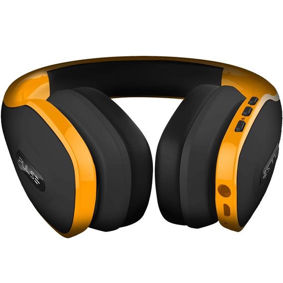 Headphone Bluetooth Amarelo - Pulse - Ph151 Original