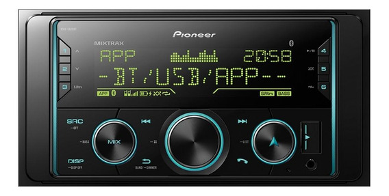 Som automotivo Pioneer MVH S628BT com USB e bluetooth