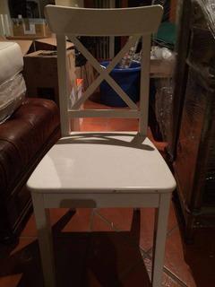 Silla Blanca De Madera Marca Ikea Americana Nueva