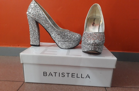 zapatos De Fiesta Brillantes Plateados marca:divina Mujer