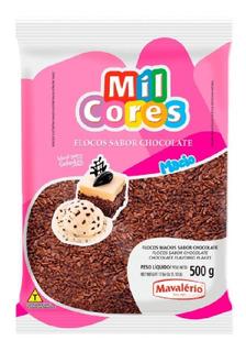 Confeito Flocos Macio Sabor Chocolate Gourmet 500g