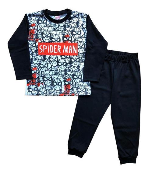 Pijama Niños Manga Larga Hombre Araña Marvel Mundo Manias