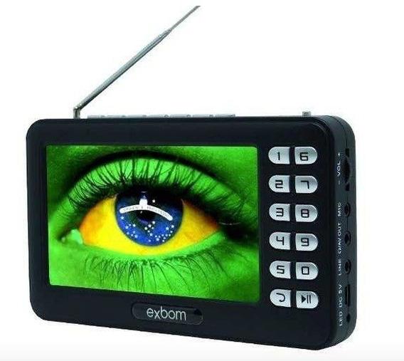 Mini Tv Digital Portátil Tela 4,3 Antena Retrátil E Rádio Fm