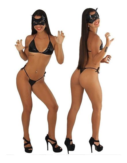 Mini Fantasia Sensual Mulher Gato Sexy Fácil Prazer Fragata