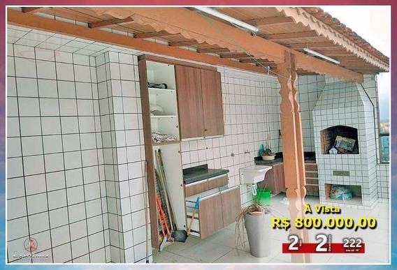 Cobertura Com 2 Dormitórios À Venda, 222 M² Por R$ 800.000,00 - Mirim - Praia Grande/sp - Co0009
