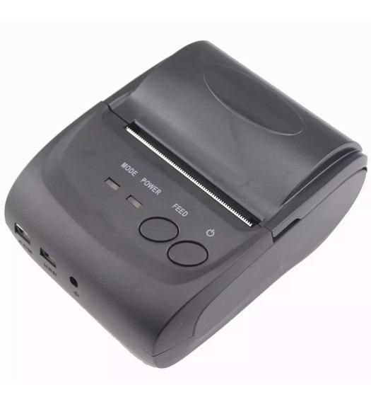 Mini Impressora Portátil Bluetooth Térmica 58mm Cupom Pedido