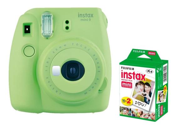 Câmera Fujifilm Instax Mini 9 Verde Limão + 20 Filmes