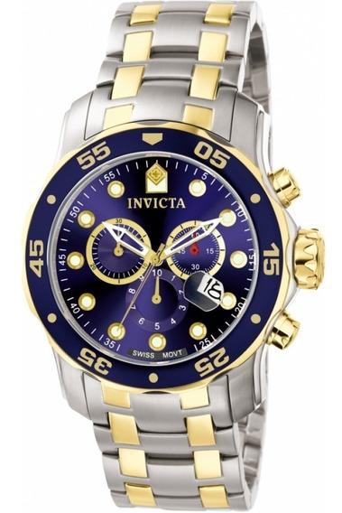 Relógio Invicta Pro Diver 0077 Misto Aço E Ouro Masculino