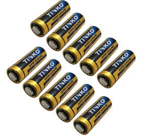 Kit C/ 10 Baterias / Pilhas Alcalina 12v A23 P/ Portão