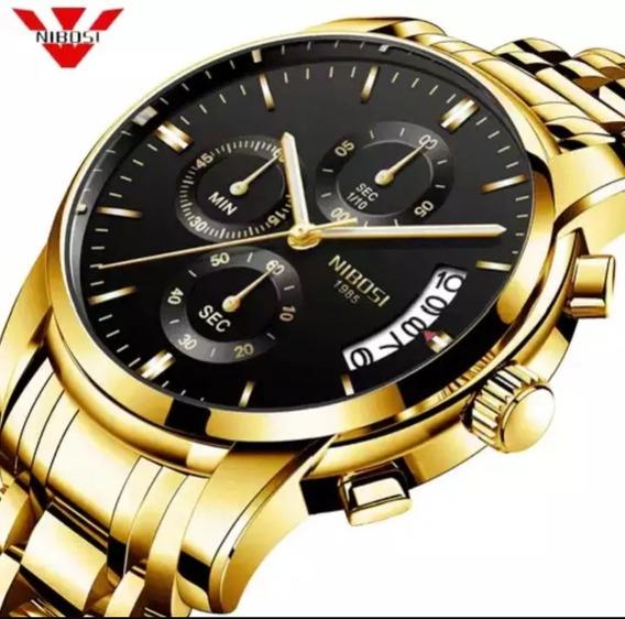 Relógio Masculino Nibosi Pra Uso Casual De Luxo 2309