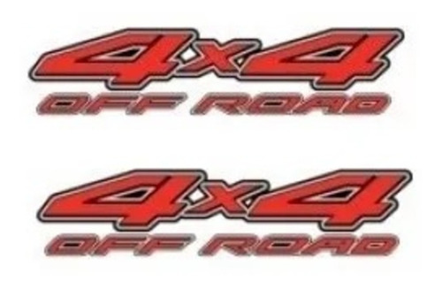 Par Dois Adesivos 4x4 Off Road Nissan Frontier Lateral