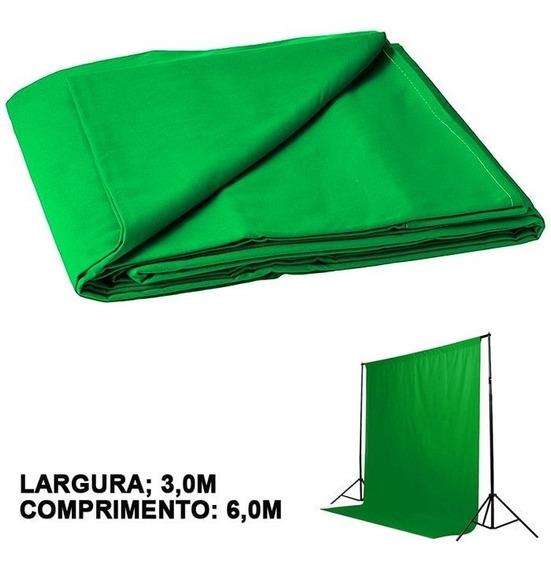 Fundo Fotográfico De Tecido Muslin 6,0m - Verde Chroma