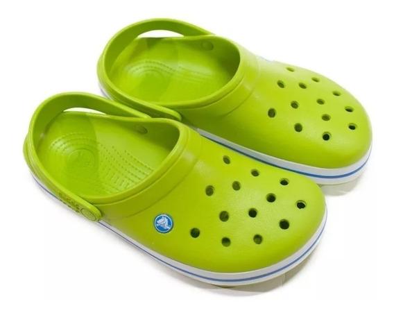 Crocs Crocband Volt Green -v Blue Sku C11016vv