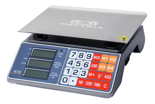 Báscula Comercial 30kgs Conexión Usb Mettria - Mtusb-lite