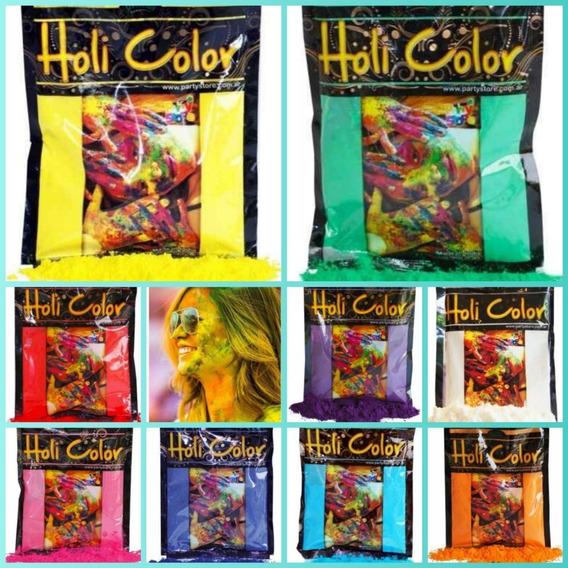 10 Polvos Holi Color X 50g Precio Mayorista