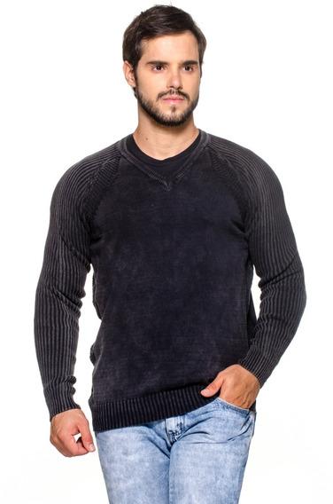 Suéter Maculino Tricô Estonado Bélgica -100% Algodão 7151