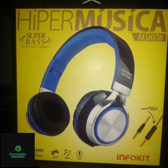 Headphone Estéreo Hm-750w