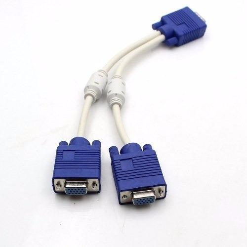 Cable Splitter Multiplicador Vga 1 Macho A 2 Hembras Pc 8694