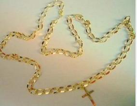 Colar Cordão Em Ouro 18k Com Fecho Mosquetão 70 6,5 Gr