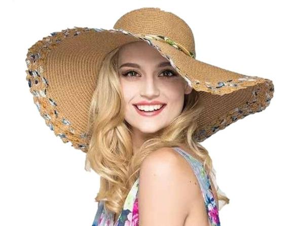 Sombrero Pava Mujer En Nailon Resistentes Al Agua Tejidas