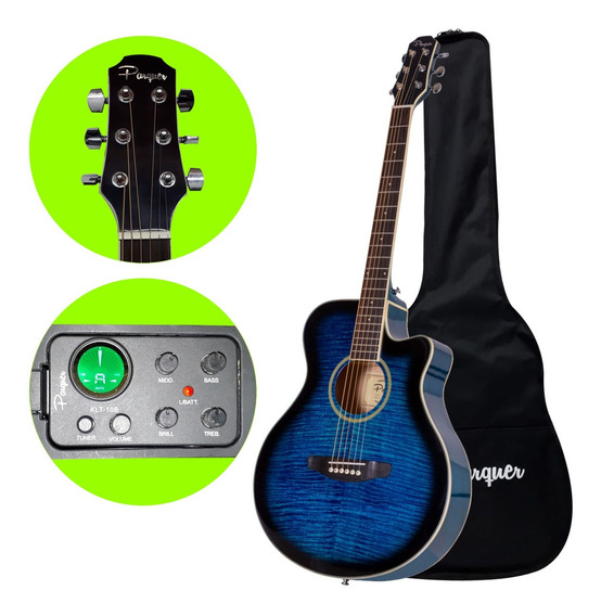 Guitarra Electroacustica Parquer Gac209 Tbbleq4 Envio - Cuotas