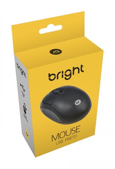 Mouse Óptico Usb Bright Preto Imediato