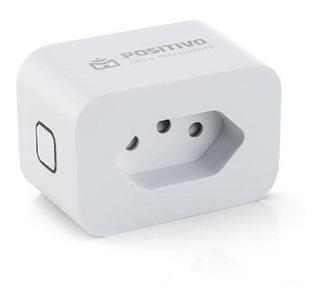Tomada Smart Plug Wi-fi Positivo Casa Inteligente Branco