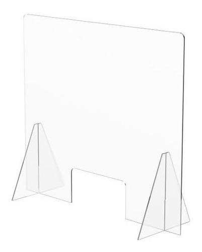 Imagen 1 de 10 de Mampara Protección Anticontagios. 70x60 Cm. Grosor 3 Mm