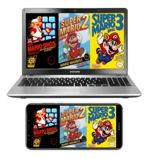 Kit Super Mario Bros 1, 2, 3 Para Pc, Celulares Y Tablets (: