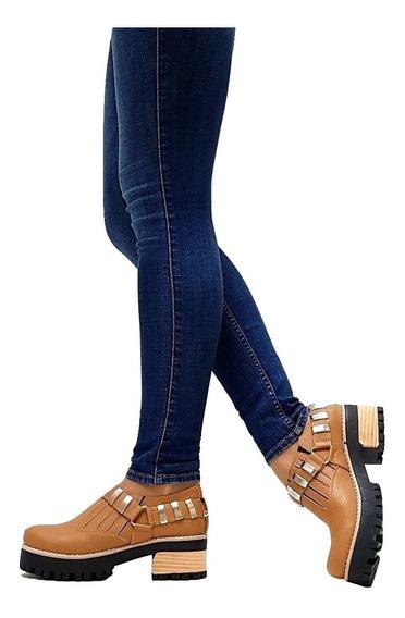 Zapatos Mujer Con Plataforma Detalle Tachas Moda 2019 Mugato