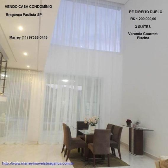 Condomínio Fechado Para Venda Em Bragança Paulista, Linda, Pé Direito Duplo, Condomínio, 3 Dormitórios, 3 Suítes, 5 Banheiros, 3 Vagas - 1919